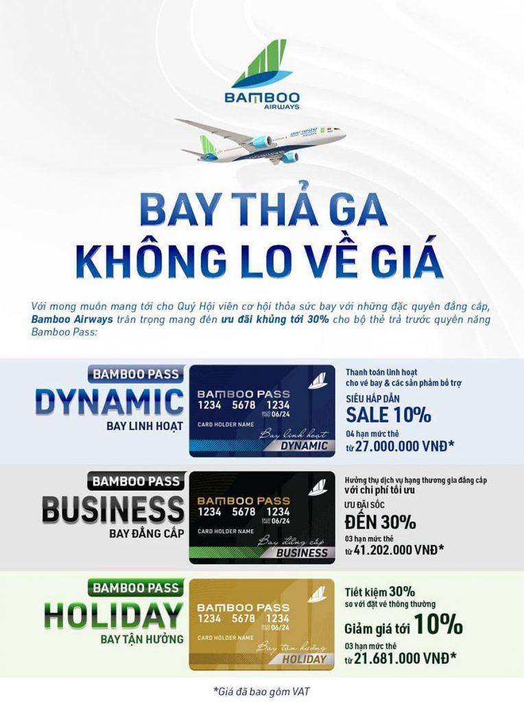 Bamboo Pass ưu đãi đến 30% - Bay thả ga, không lo về giá