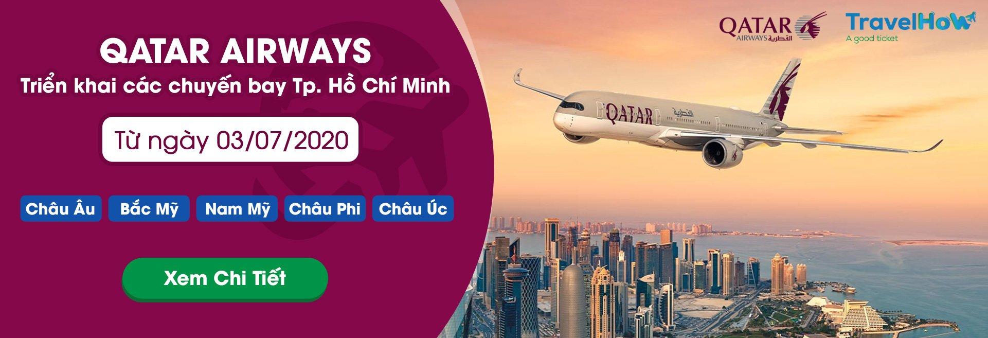 Đặt vé máy bay Qatar