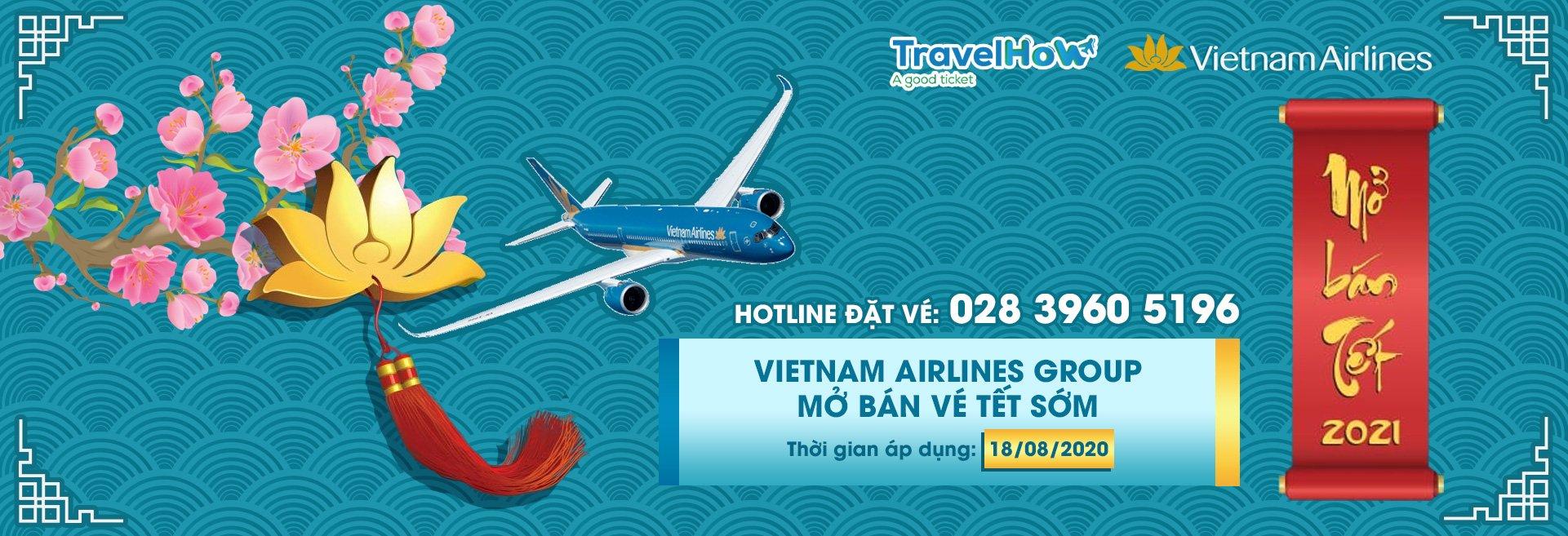 Thông báo mở bán vé máy bay VietNam Airlines Tết 2021