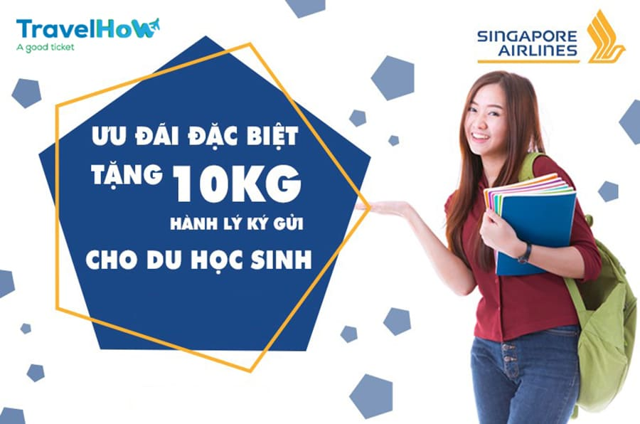 SQ triển khai chương trình tặng thêm 10KG hành lý ký gửi dành cho du học sinh bay 1 chiều