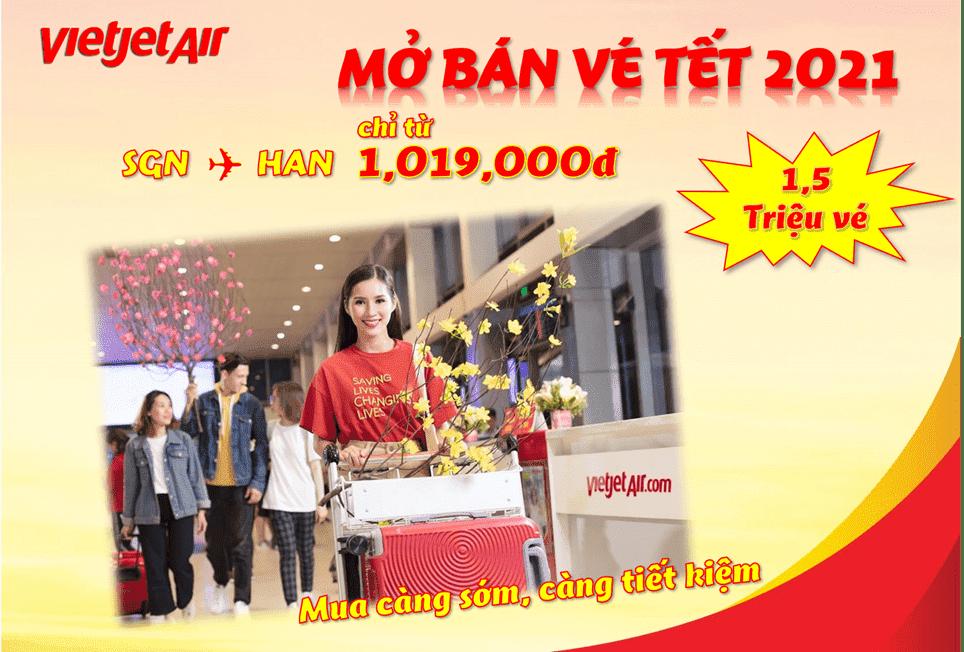Vietjet Air thông báo mở bán vé Tết Nguyên đán Tân Sửu 2021