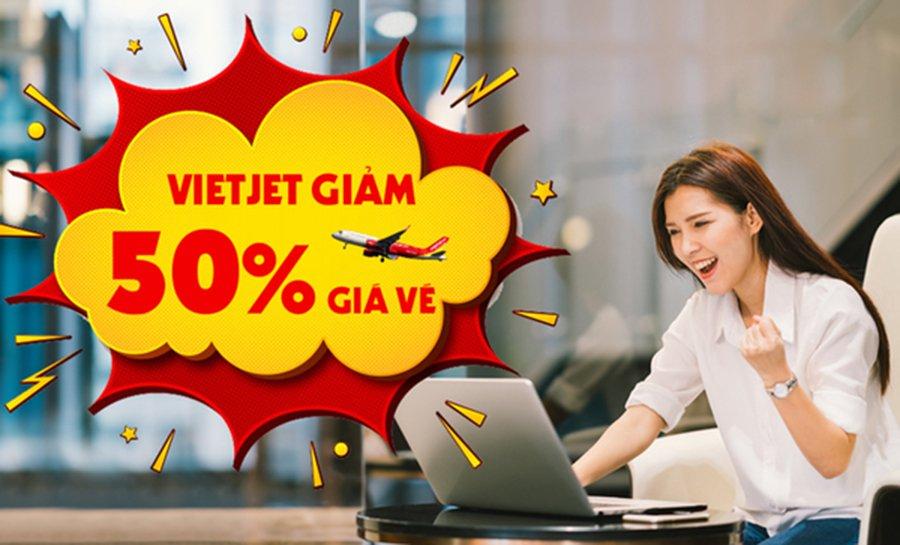 VietJet Air khuyến mãi giảm đến 50% giá vé từ ngày 28/10 - 30/10/2020