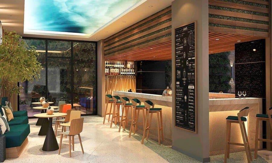 Thư giãn tuyệt vời tại quầy Bar ở tầng trệt của khách sạn