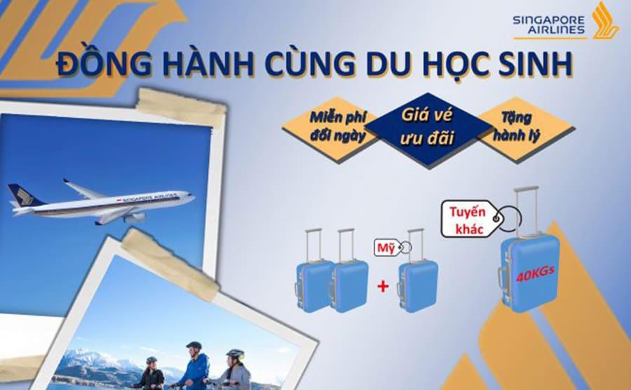 """Singapore Airlines triển khai chương trình """"ĐỒNG HÀNH CÙNG DU HỌC SINH"""""""