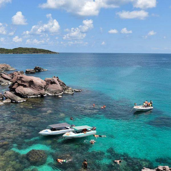 Land Tour câu cá - Tour cano 4 đảo + Cáp treo Hòn Thơm - Sunset Sanato