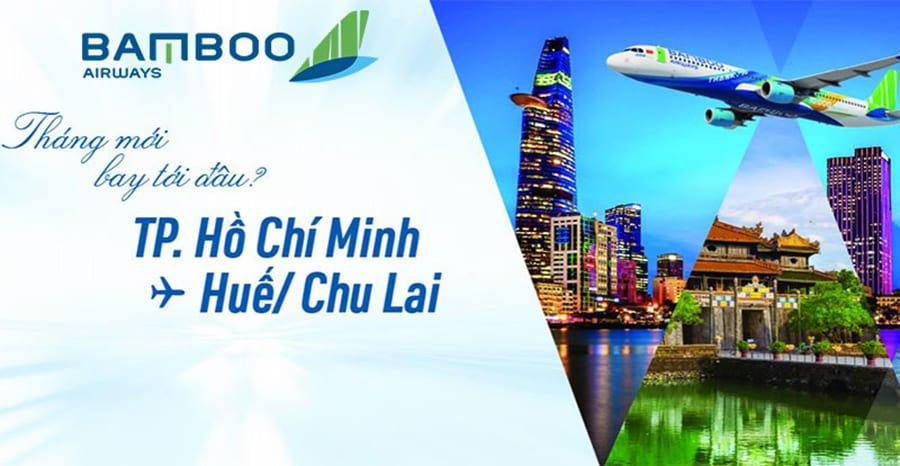 Bamboo Airways thông báo tái khai thác đường TP. HCM - Huế/Chu Lai