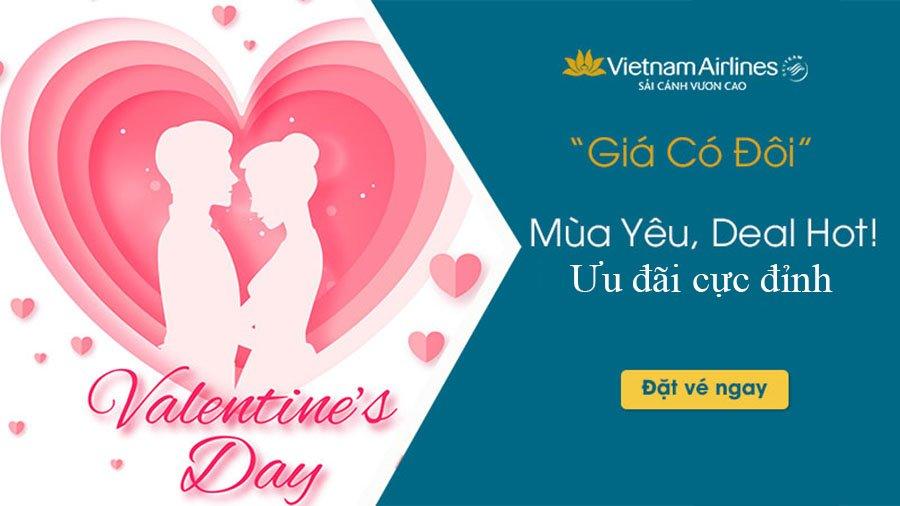Vietnam Airlines triển khai biểu giá GV2 trong ngày Lễ tình nhân