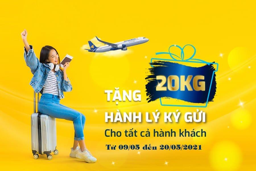 Vietravel Airlines triển khai tặng gói hành lý 20kg đến 20/05/2021